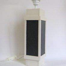 Grand Pied de Lampe en  Ardoise et Bois, Création Artisanale Unique