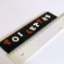 Plaque de Porte pour TOILETTES en Ardoise Lettres Emaillés, a Poser sans Trou, Création Artisanale