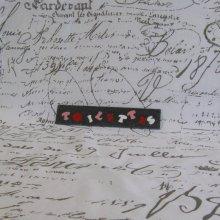 Plaque de Porte Toilette Emaillée sur Ardoise, Rose Rouge Blanc, création unique.