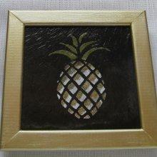 tableau ananas peint sur ardoise