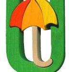 U- umbrella  Lettres bois, déco et puzzles