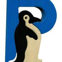 P - pinguin  Lettres bois, déco et puzzles