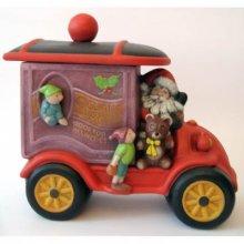 Père Noël avec automobile