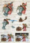 Feuille 3D prédécoupée 2 anges