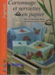 Livre cartonnage et serviettes en papier