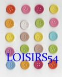 Lot de 20 boutons couleurs clairs et orange de 13 mm pour la couture