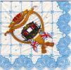 Serviette papier Carrosse Royal Reine Angleterre