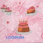 Serviette papier cupcakes sucré - 33 cm x 33 cm