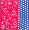 Serviette papier motif pop corn de 33 cm X 33 cm 3 plis