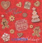 Serviette papier Noël et Merry Christmas - 33 cm x 33 cm