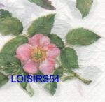 Serviette papier rose canina