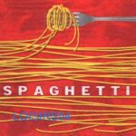 Serviette papier spaghetti et Italie - 33 cm x 33 cm
