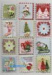 Stickers 3D autocollant timbres de Noël pour décoration