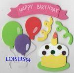 Stickers anniversaire autocollant mousse pour décoration