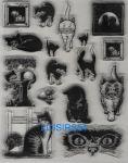 Tampon transparent chats pour décoration 16 pièces