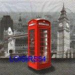 Serviette papier Londres et cabine téléphonique