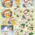 Feuilles à découper motif Noël