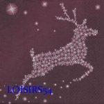 Serviette papier Noël et renne 33 cm x 33 cm pour la décoration de table