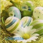 Serviette papier oeufs de Pâques et marguerite