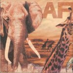 Serviette papier animaux d'Afrique 33 cm X 33 cm 3 plis