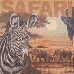 Serviette papier Afrique et safari 33 cm X 33 cm 3 plis