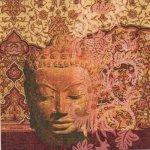 Serviette papier Asie et temple  33 cm X 33 cm 3 plis