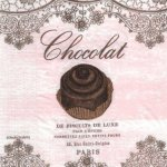 Serviette papier biscuit chocolat 33 cm X 33 cm 3 plis