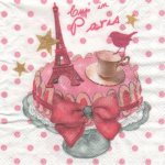 Serviette papier Cup in Paris 25 cm X 25 cm 3 plis