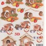 Feuilles 3D hamster à découper