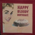 Serviette papier Happy Bloody Birthday 33 cm X 33 cm 2 plis