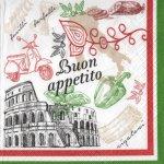 Serviette papier Italie et Roma  33 cm X 33 cm 3 plis