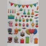 Stickers la fête 40 pièces autocollants