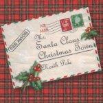 Serviette papier lettre Pere Noël 33 cm X 33 cm 3 plis