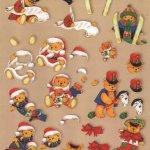 Feuilles 3D Noël et oursons