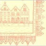 Serviette papier  motif Bruge 33 cm X 33 cm 3 plis