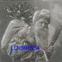 Serviette papier père Noël vintage