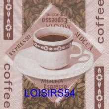 Serviette papier café espresso