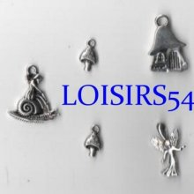 Breloque métal motif fée 20 mm pour bracelet