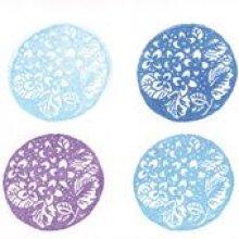 Set 4 Encreurs bleu