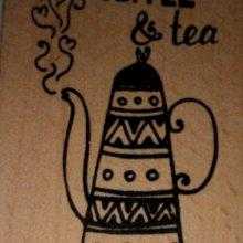 Tampon bois café et thé 6 cm x 4 cm