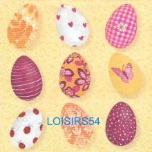 Serviette papier oeufs de Pâques de couleurs