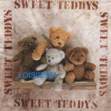 Serviette papier 4 oursons Teddys