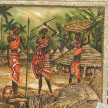 Serviette papier Afrique et danseurs 33 cm X 33 cm 3 plis