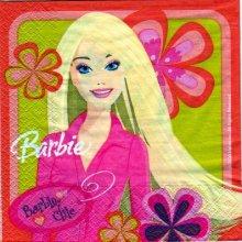 Serviette papier Barbie 33 cm X 33 cm 2 plis