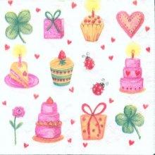 Serviette anniversaire et cadeaux