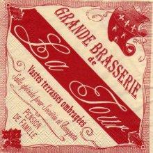 Serviette papier brasserie La Tour de 33 cm X 33 cm 3 plis