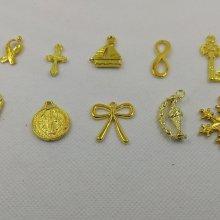 Breloques métal motif bateau lot de 10 pièces