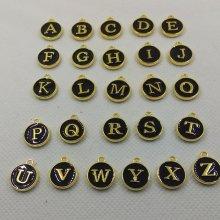 Breloques métal alphabet lot de 26 pièces