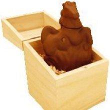 Brule parfum cheval en céramique dans boite en bois