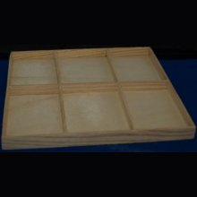 Cadre bois collection 6 cases 185 mm x 155 mm